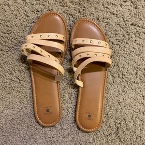 BRAND NEW. Nude Sandals